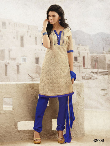 Beige Color Chanderi Salwars - 45008