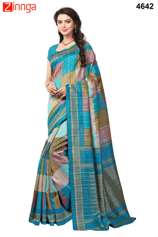Multi Color Bhagalpuri Sarees - 4646