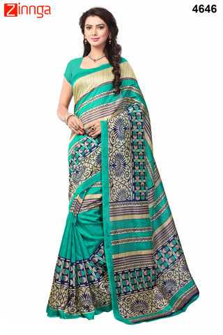 Multi Color Bhagalpuri Sarees - 4688