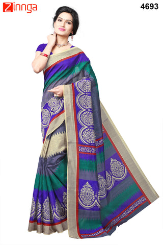 Multi Color Bhagalpuri Sarees - 4744