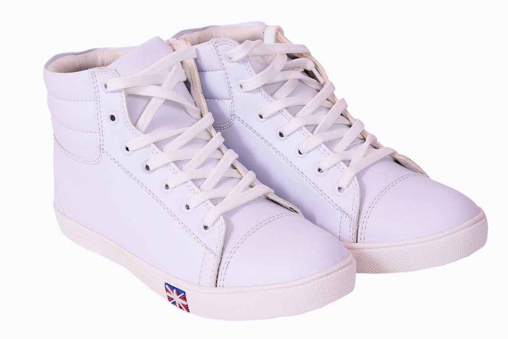 Buy White Color Synthetic Leather Casual Shoe