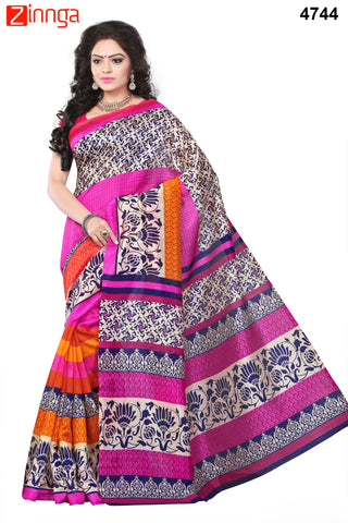 Multi Color Bhagalpuri Sarees - 4745