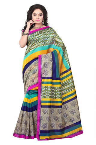 Multi Color Bhagalpuri Sarees - 4763
