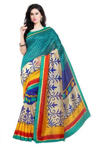 Multi Color Bhagalpuri Sarees - 4772