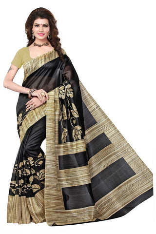 Black Color Bhagalpuri Sarees - 4775