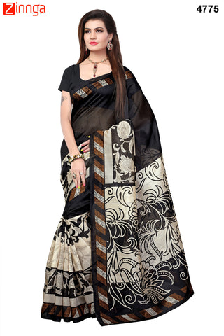 Black Color Bhagalpuri Sarees - 4783