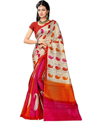 Multi Color Bhagalpuri Sarees - 5565