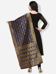 Navy Blue Color Banarasi Silk Women's Dupatta - 49999