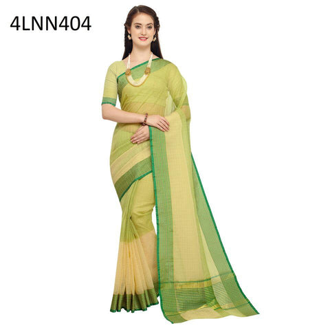 Green Color Art Silk Saree - 4LNN404