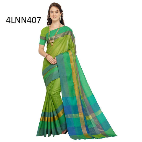 Green Color Art Silk Saree - 4LNN407