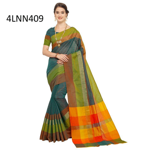 Teal Green Color Art Silk Saree - 4LNN409