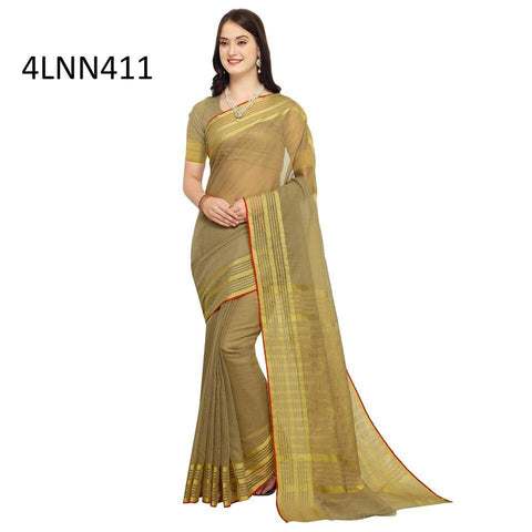 Beige Color Art Silk Saree - 4LNN411