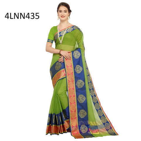 Green Color Art Silk Saree - 4LNN435