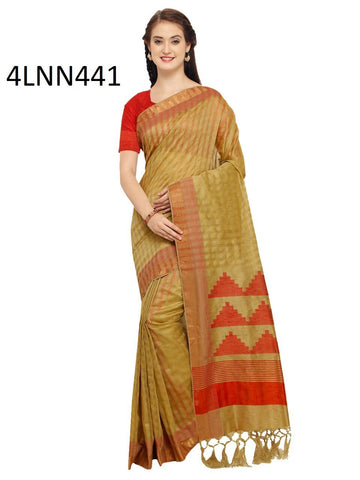 Beige Color Art Silk Saree - 4LNN441