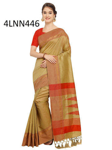 Beige Color Art Silk Saree - 4LNN446