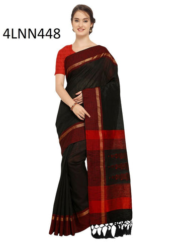 Black Color Art Silk Saree - 4LNN448