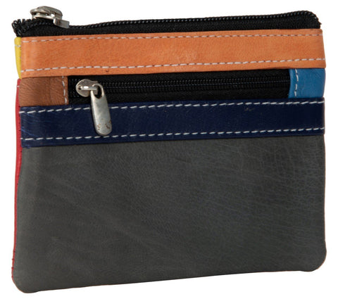 Multi Color Leather Womens wallet - 50-GREYRED