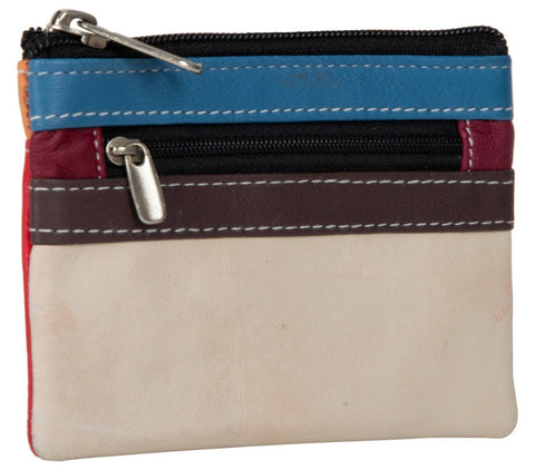Multi Color Leather Womens wallet - 50-WHITERED