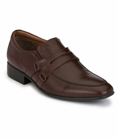 Brown Color Leather Men's Formal Shoes - 5008-BROWN
