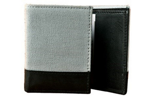 Grey Color Canvas Leather Mens Wallet - 503GR