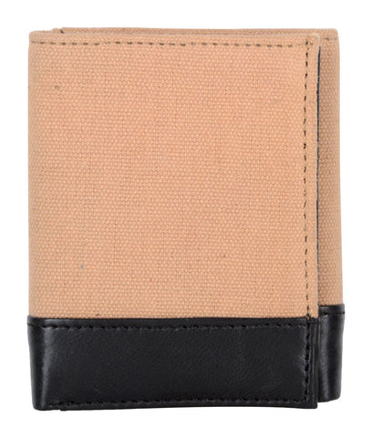 Beige Color Canvas Leather Mens Wallet - 503RFID-CANVAS