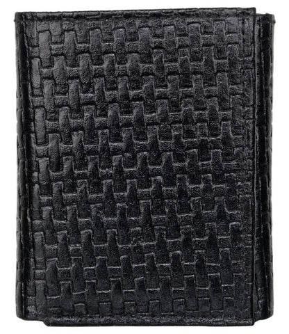 Black Color Leather Mens Embossed Wallet - 503ZBBLACK