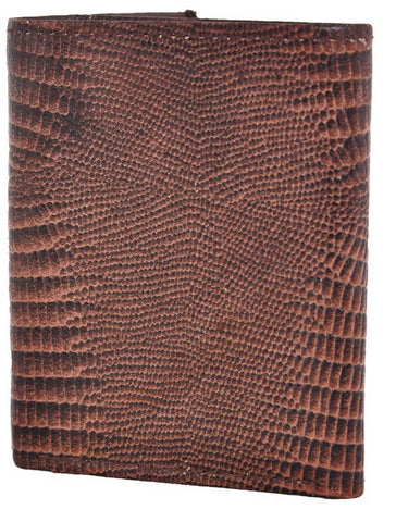 Brown Color Leather Mens Embossed Wallet - 503ZLBROWN