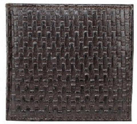 Choco Color Leather Mens Embossed Wallet - 504ZBCHOCO