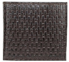 Buy Choco Color Leather Mens Embossed Wallet