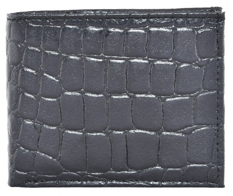 Black Color Leather Mens Embossed Wallet - 504ZCBLACK
