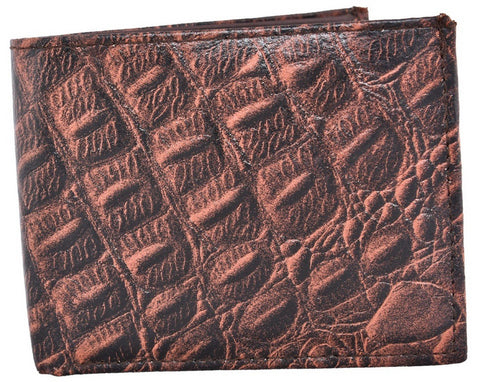 Brown Color Leather Mens Embossed Wallet - 504ZCBROWN