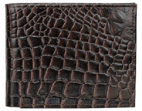 Choco Color Leather Mens Embossed Wallet - 504ZCCHOCO