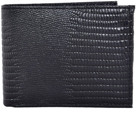 Black Color Leather Mens Embossed Wallet - 504ZLBLACK