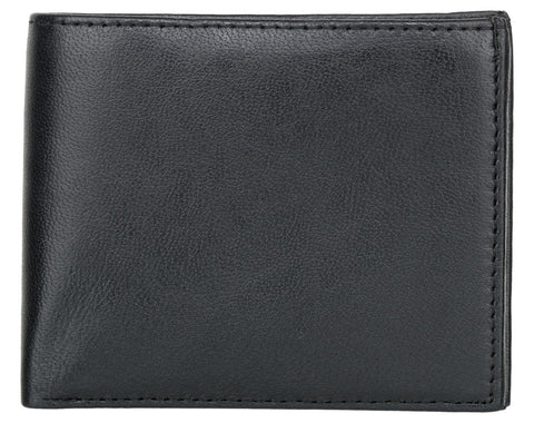 Black Color Genuine Leather Mens Wallet - 504Z