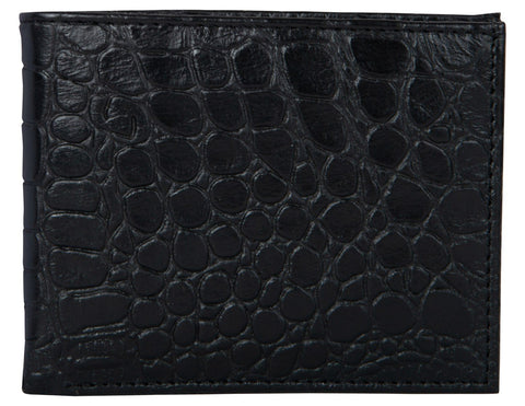 Black Color Genuine Leather Mens Wallet - 506ZC-BLKRFID