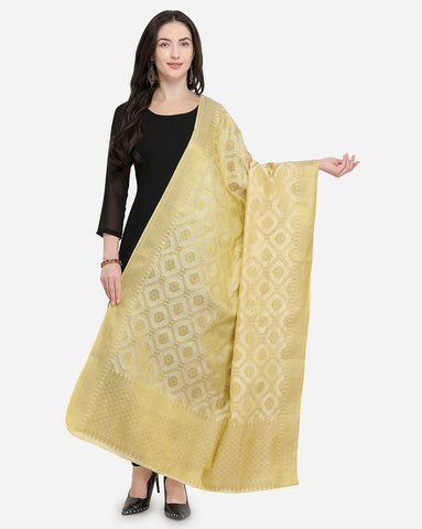 Beige Color Pure Banarasi Silk Women's Dupatta - 50988