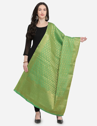 Green Color Pure Banarasi Silk Women's Dupatta - 50989