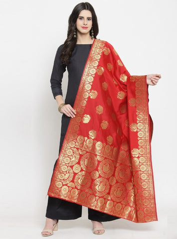 Red Color Banarasi Women's Dupatta - 51195