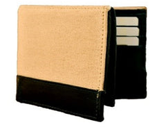 Buy Beige Color Canvas Leather Mens Wallet