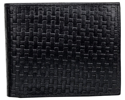 Black Color Leather Mens Embossed Wallet - 511ZBBLACK