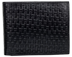 Buy Black Color Leather Mens Embossed Wallet