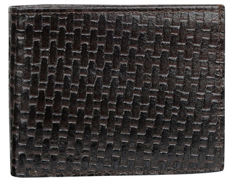 Choco Color Leather Mens Embossed Wallet - 511ZBCHOCO