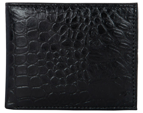 Black Color Genuine Leather Mens Wallet - 511ZC-BLKRFID