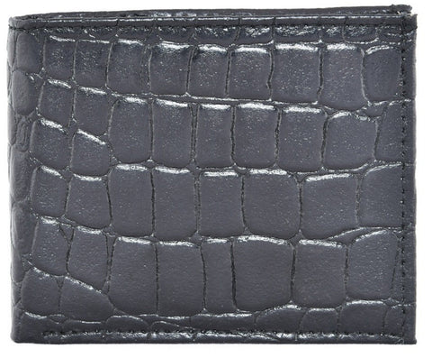 Black Color Leather Mens Embossed Wallet - 511ZCBLACK