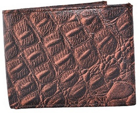 Brown Color Leather Mens Embossed Wallet - 511ZCBROWN
