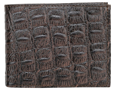 Choco Color Leather Mens Embossed Wallet - 511ZCCHOCO