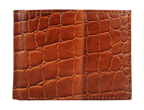 Brown Color Genuine Leather Mens Wallet - 511ZCRFID