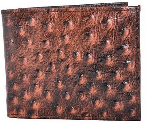 Brown Color Leather Mens Embossed Wallet - 511ZOBROWN