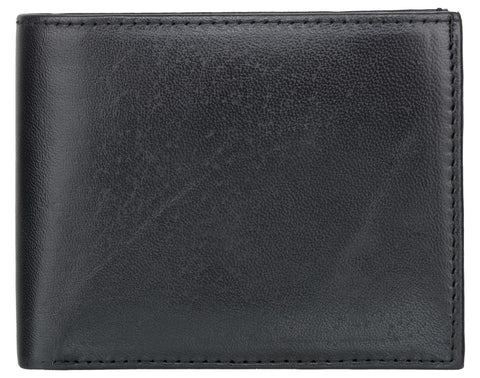 Black Color Genuine Leather Mens Wallet - 511Z