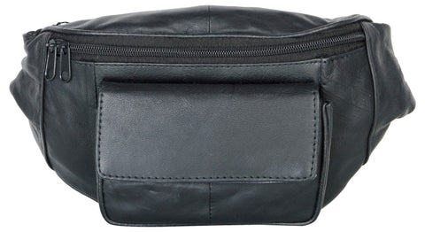 Black Color Leather Unisex Travel Bag - 513BLK